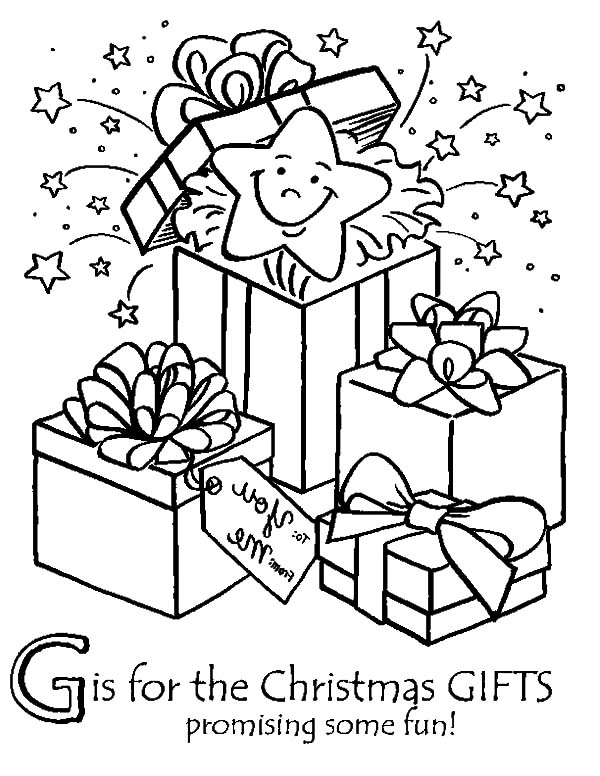 Christmas Presents, : Open Your Christmas Presents Coloring Pages