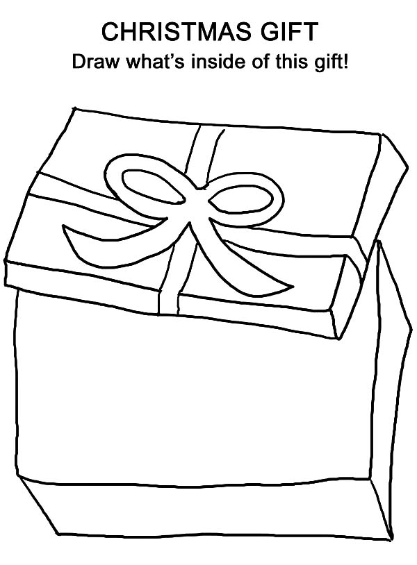 Christmas Presents, : Opening Christmas Presents Coloring Pages