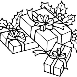 put all christmas presents under christmas tree coloring pages