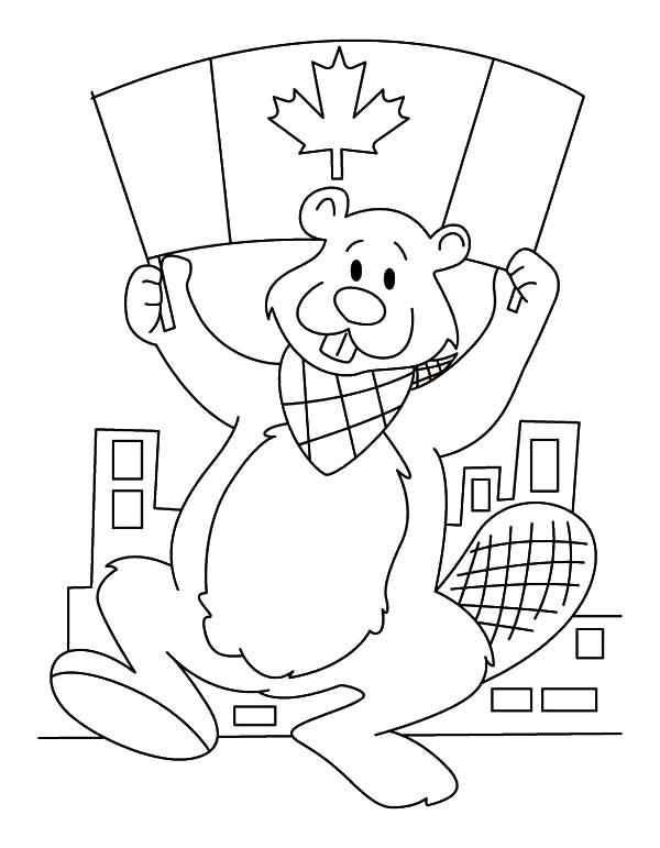 National Canada Day, : Image of National Canada Day Coloring Pages