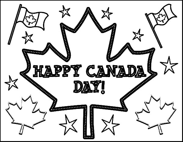 National Canada Day, : Joyful Celebration on National Canada Day Coloring Pages