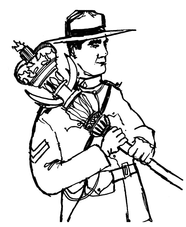 National Canada Day, : National Army on National Canada Day Coloring Pages