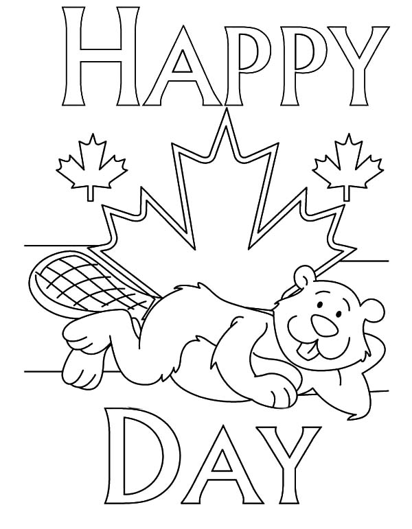 National Canada Day, : National Canada Day Coloring Pages for Childrens