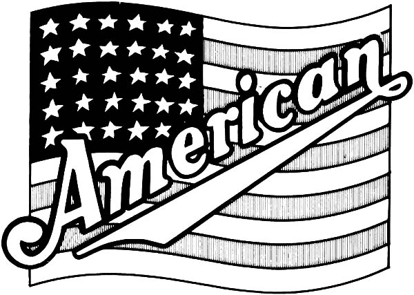 Independence Day, : Proud American Flag for Independence Day Coloring Pages
