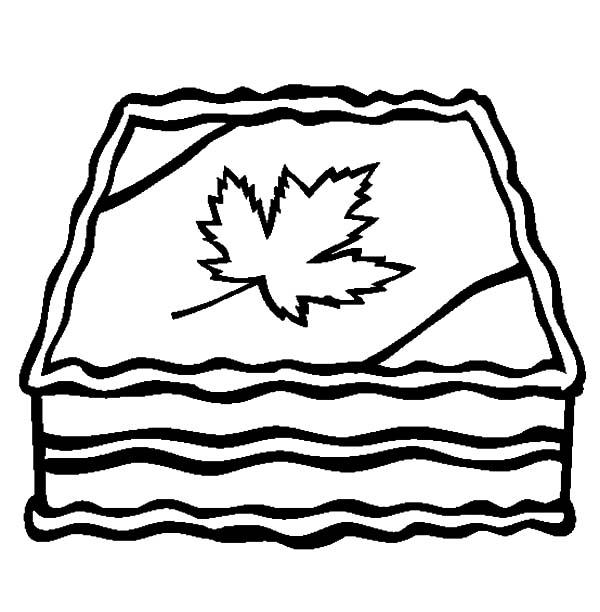 National Canada Day, : Yummy Cake for National Canada Day Coloring Pages