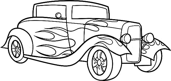 Hot Rod Cars, : 1934 Chevrolet Standard Hot Rod Cars Coloring Pages