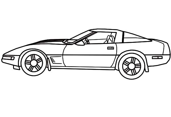 Corvette Cars, : Awesome Corvette Cars Coloring Pages