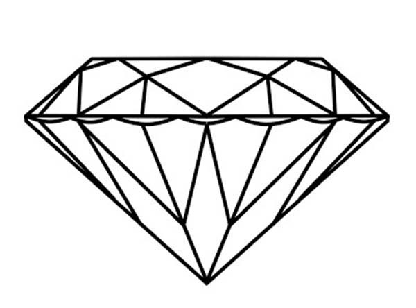 Diamond Shape, : Beautiful Diamond Shape Coloring Pages