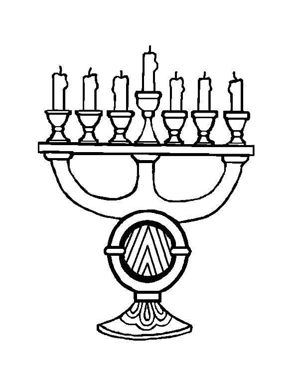 Kinara, : Beautiful Kinara Menorah Coloring Pages