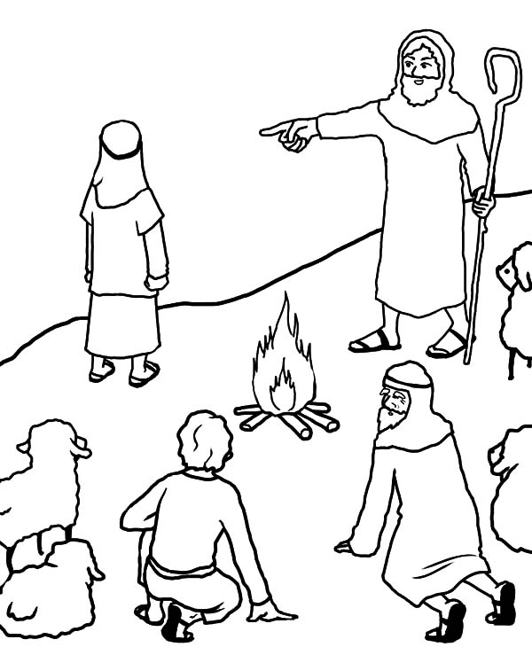 David The Shepherd Boy, : Bible Story David the Shepherd Boy Coloring Pages