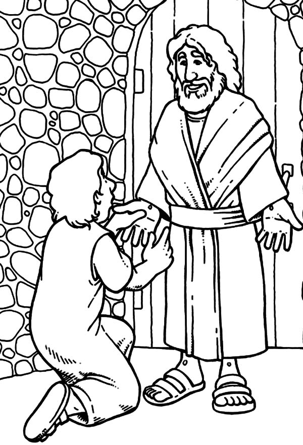 Doubting Thomas, : Bible Story Doubting Thomas Coloring Pages
