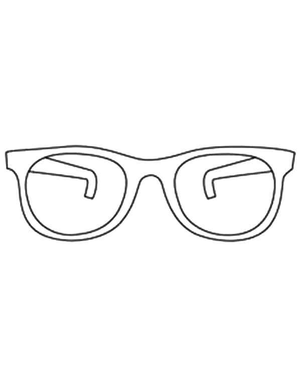 Eyeglasses, : Blind People Hide Their Eyes Behind Eyeglasses Coloring Pages