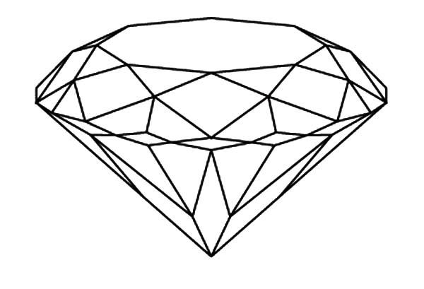 Diamond Shape, : Brilliant Diamond Shape Coloring Pages