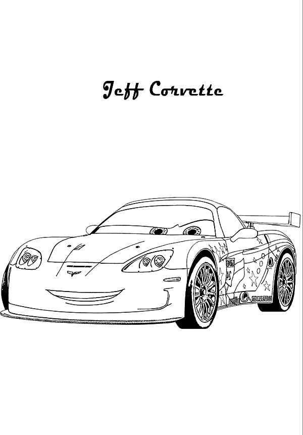 Corvette Cars, : Cars 2 Jeff Corvette Coloring Pages