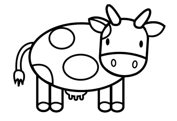 Cows, : Cartoon Cows Coloring Pages