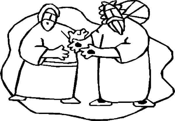 Doubting Thomas, : Cartoon Doubting Thomas Coloring Pages