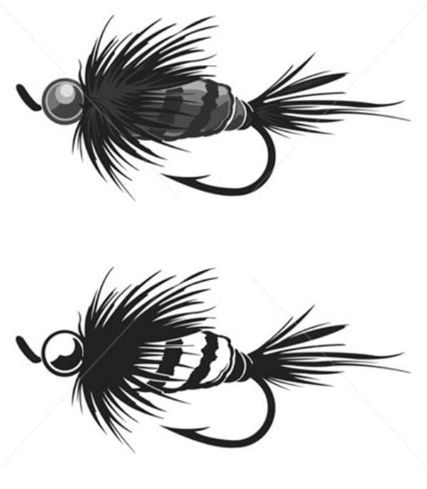 Fishing Lures, : Caterpillar Fishing Lure Coloring Pages