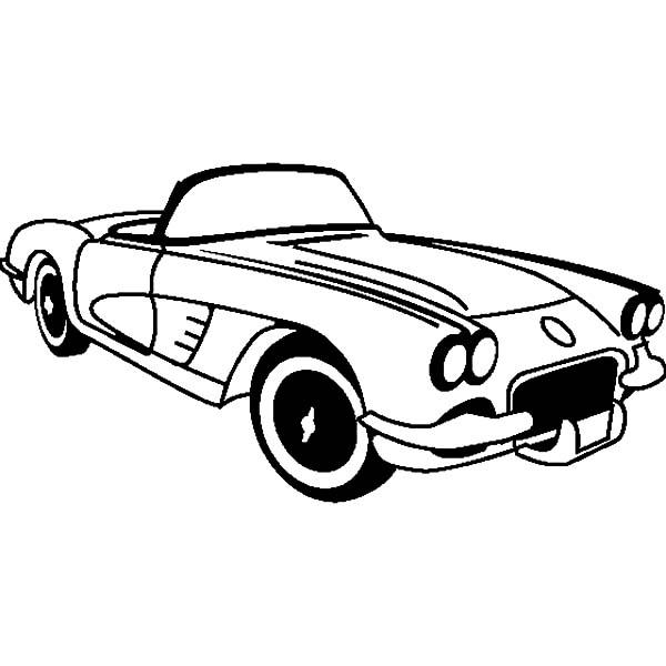 Corvette Cars, : Chevrolet Cars Corvette 1953 Coloring Pages
