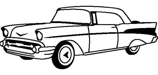Corvette Cars, : Chevrolet Cars Corvette 1955 Coloring Pages