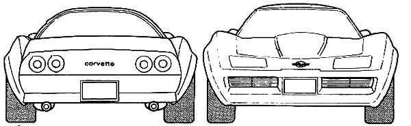 Corvette Cars, : Chevrolet Corvette Cars 1970 Coloring Pages