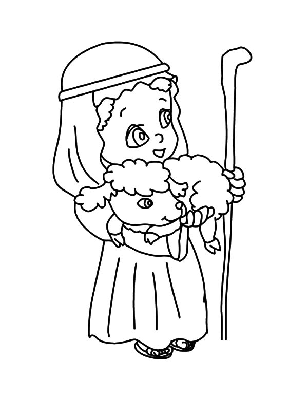 David The Shepherd Boy, : Chibi Picture of David the Shepherd Boy Coloring Pages