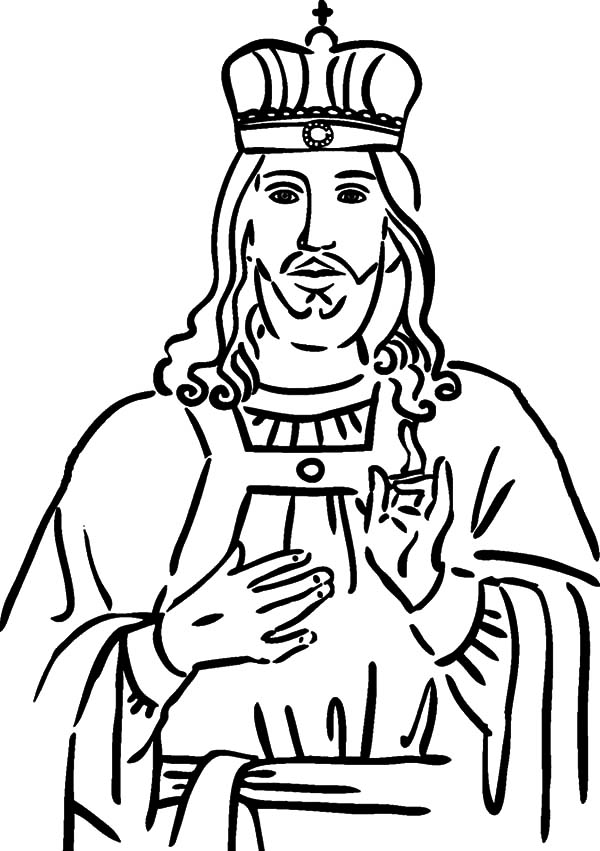 King, : Christ the King Coloring Pages