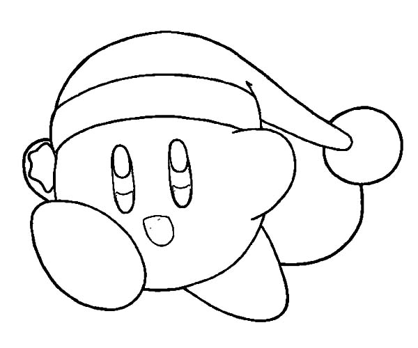 christmas kirby coloring pages