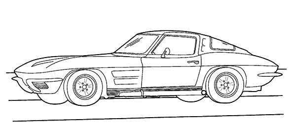 Corvette Cars, : Corvette Cars 1983 Coloring Pages