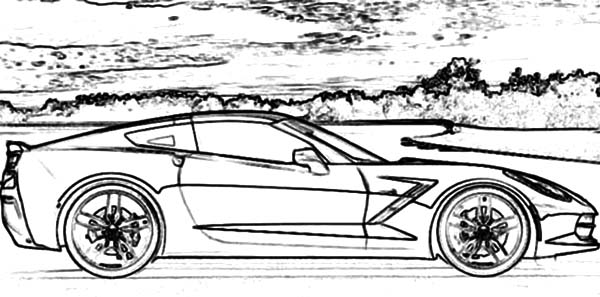 corvette cars corvette stringray c7 cars coloring pages corvette - Corvette Coloring Pages Printable