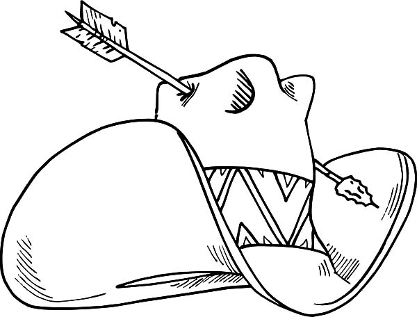 Cowboy Hat, : Cowboy Hat Hot by an Arrow Coloring Pages