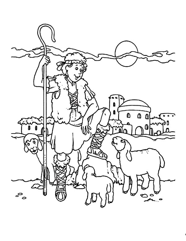 David The Shepherd Boy, : David the Shepherd Boy Coloring Pages