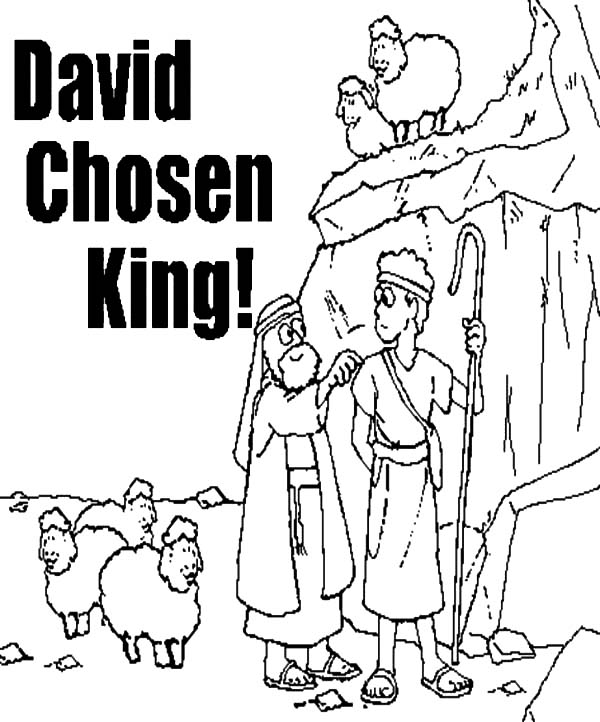 David The Shepherd Boy, : David the Shepherd Boy the Chosen King Coloring Pages
