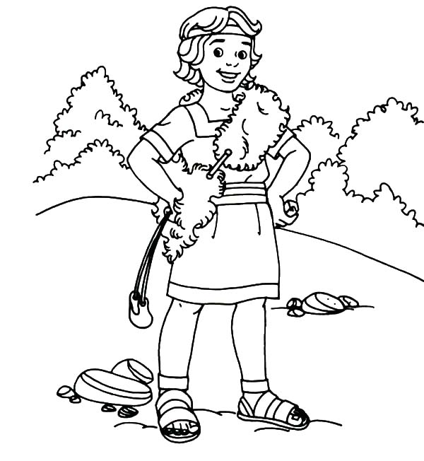 David The Shepherd Boy, : David the Shepherd Handsome Boy Coloring Pages