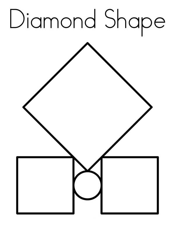 Diamond Shape, : Diamond Shape Between Box Coloring Pages