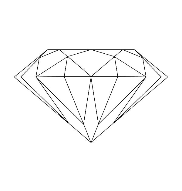 Diamond Shape, : Diamond Shape Coloring Pages for Kids
