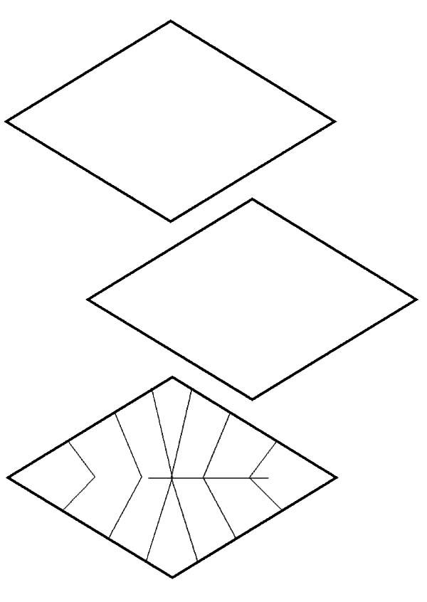 Diamond Shape, : Diamond Shape Design Coloring Pages