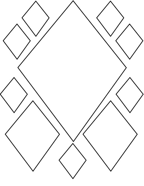 Diamond Shape, : Diamond Shape Pattern Coloring Pages