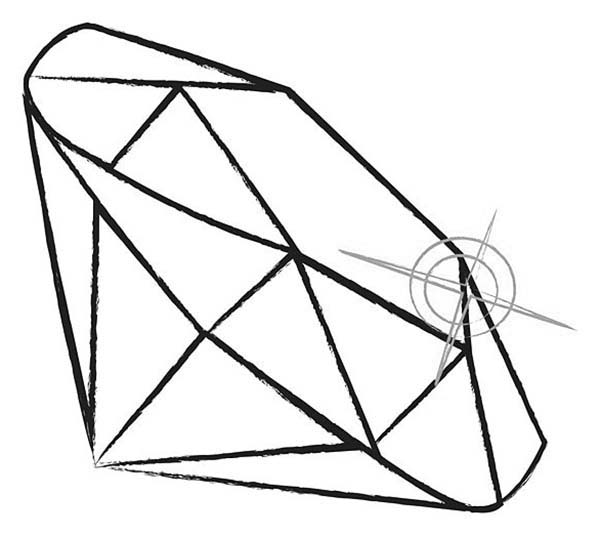 Diamond Shape, : Diamond Shape for Perfect Reflection of Light Coloring Pages