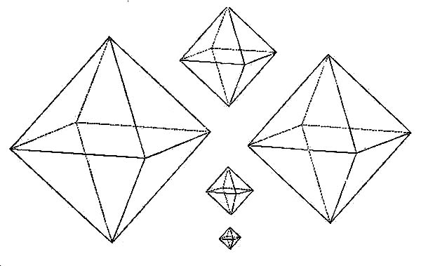 Diamond Shape, : Diamond Shape in Sizes Coloring Pages