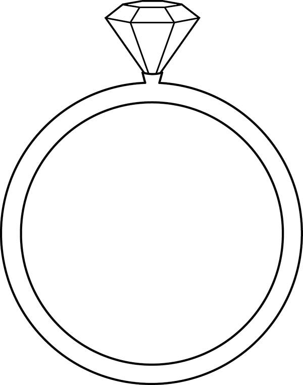 Diamond Shape, : Diamond Shape on Wedding Ring Coloring Pages