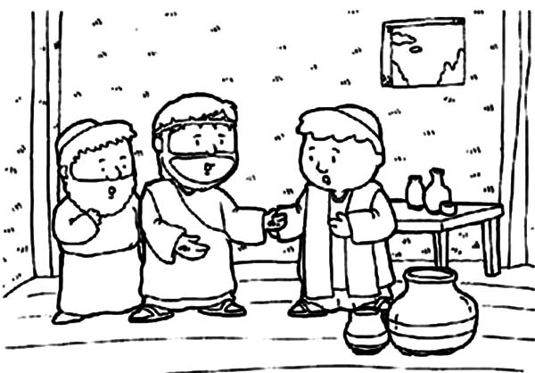 Doubting Thomas, : Doubting Thomas Coloring Pages for Kids