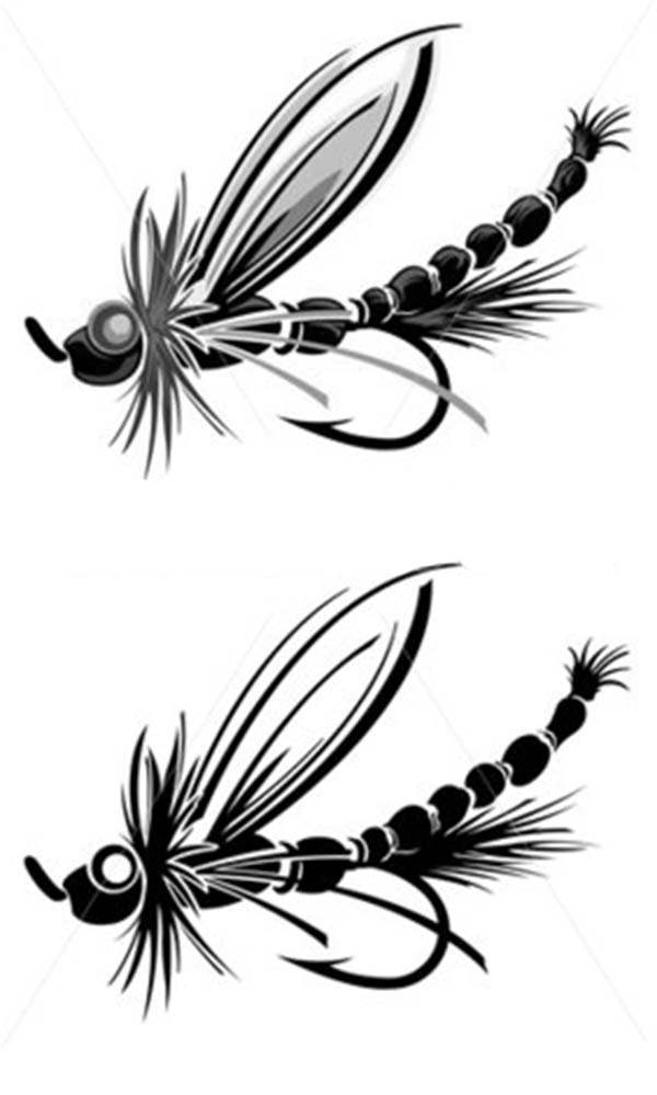 Fishing Lures, : Dragonfly Shaped Fishing Lure Coloring Pages