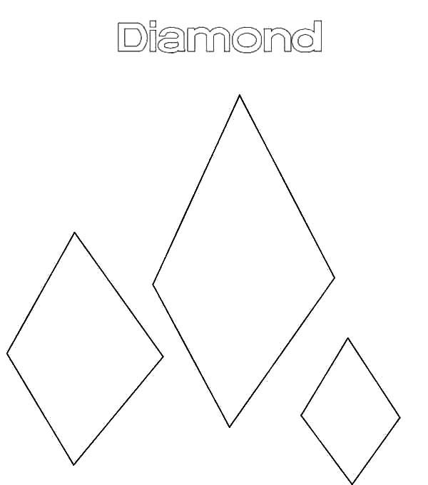 Diamond Shape, : Drawing Diamond Shape Coloring Pages