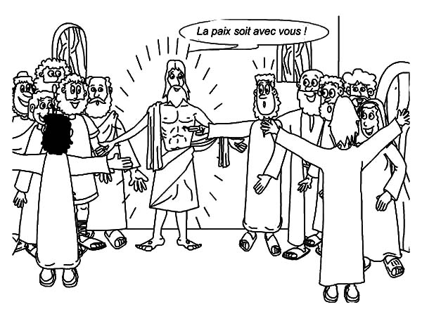 Doubting Thomas, : Drawing Doubting Thomas Coloring Pages