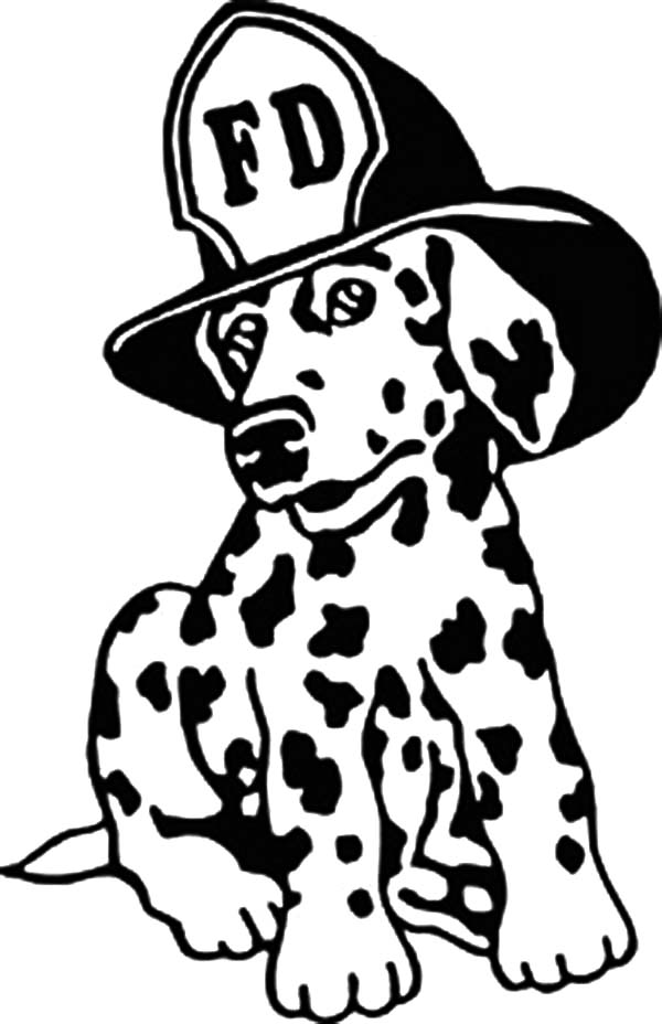 Fire Dog, : Drawing Fire Dog Coloring Pages