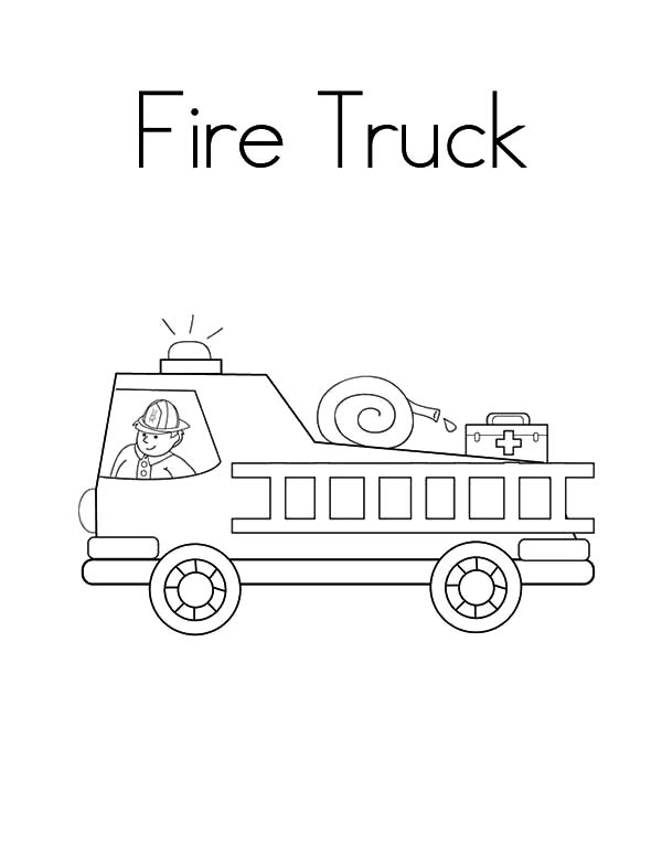 Fire Engine, : Drawing Fire Engine Coloring Pages