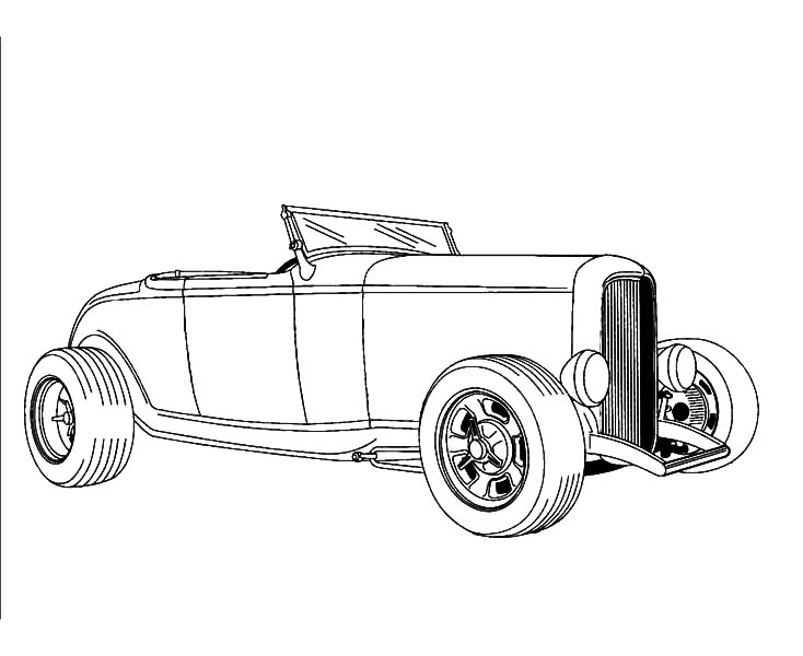 Hot Rod Cars, : Drawing Hot Rod Cars Coloring Pages
