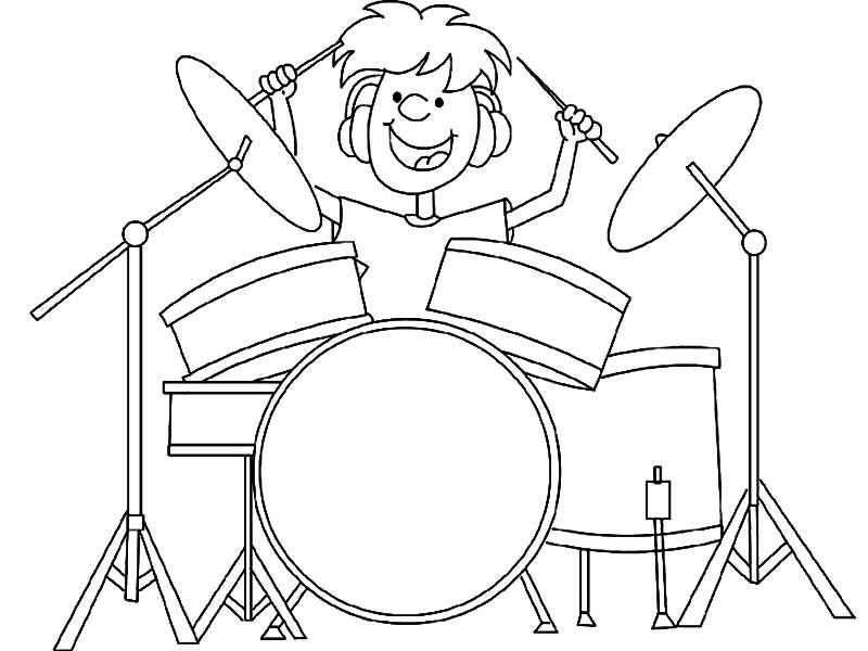 Drummer Boy, : Drummer Boy Got Talent Coloring Pages
