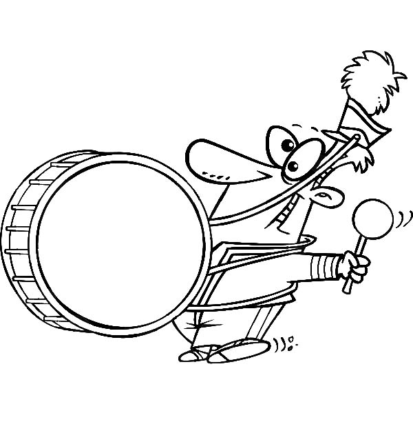 Drummer Boy, : Drummer Boy Lead Marching Band Coloring Pages