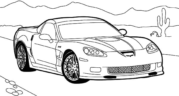 luxurious corvette cars coloring pages luxurious corvette cars
